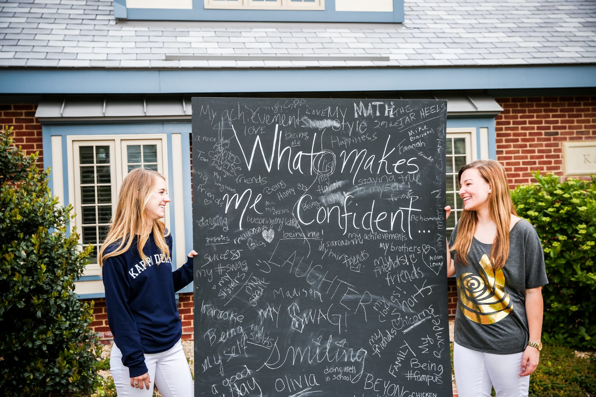 Confidence Coalition Chalkboard What makes me confident Kappa Delta Sorority