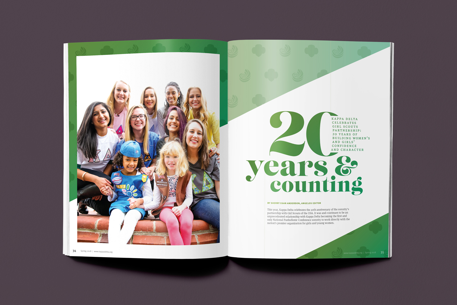 20 years and Counting: 20th Anniversary of Girl Scouts and Kappa Delta Partnership