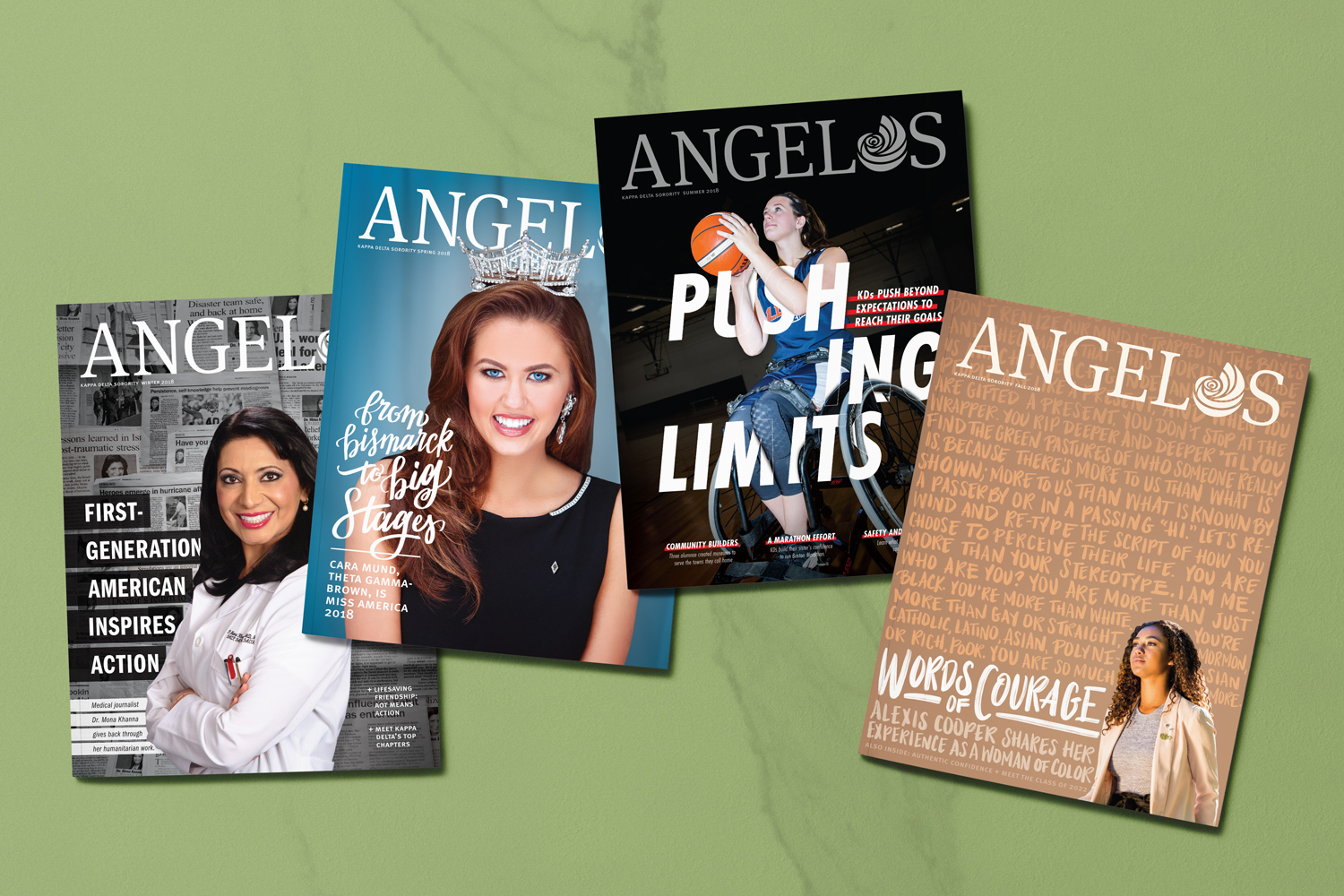 2018 Angelos cover magazine design mockups