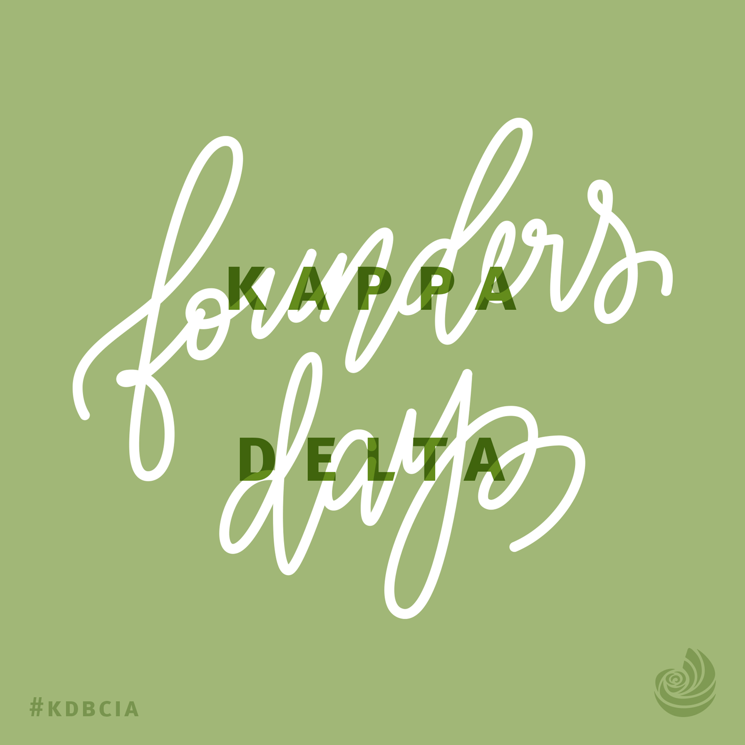 Kappa Delta Founders Day graphics hand lettering