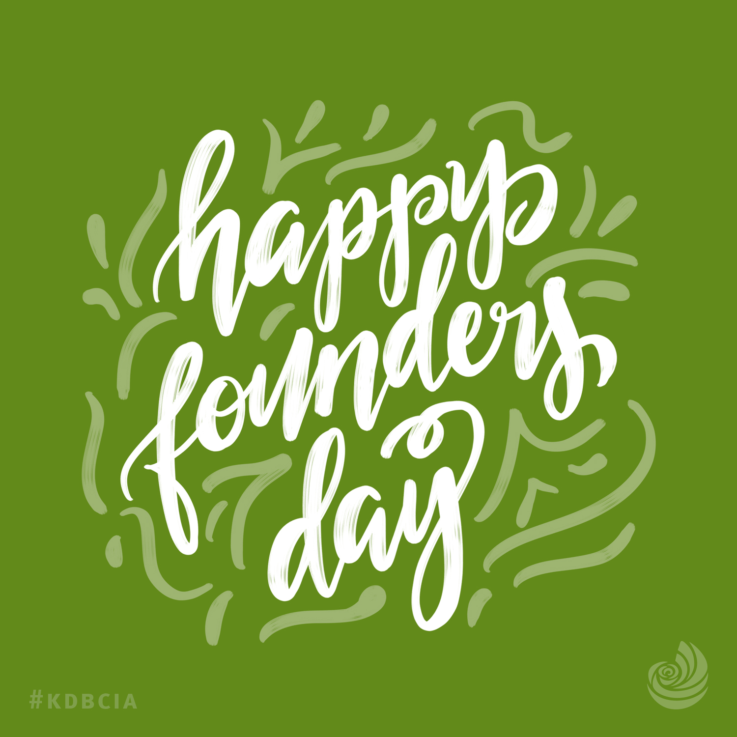Happy Founders Day graphics Kappa Delta Sorority hand lettering design