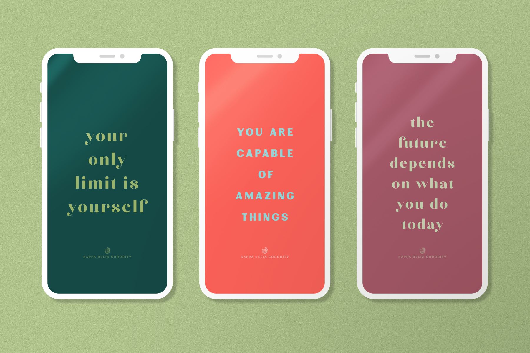 free motivational quote graphic downloads instagram story kappa delta sorority iphone mockup